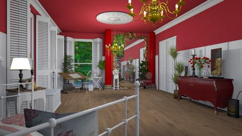 ARTISAN FLOORING red - Eclectic - Living room  - by donella