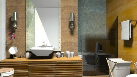 bath green/Decor. - Rustic - Bathroom  - by sahfs