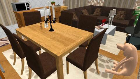 kitchen-living room-dining room! - by erofili