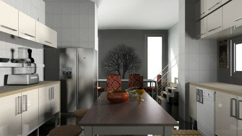Sleek Kitchen - Classic - Kitchen - by PomBom