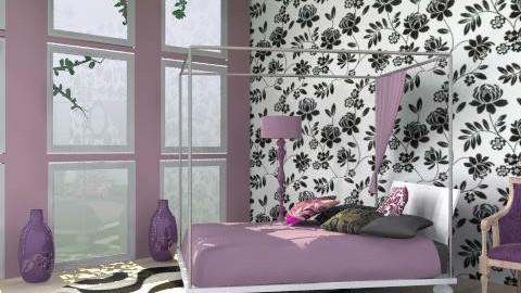 Purple2 - Minimal - Bedroom  - by Laurika