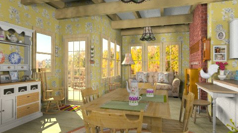 Quebec Old Country House - Rustic - Dining room  - by Bibiche