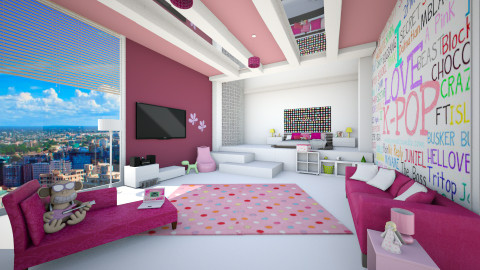 kpop crazy - Modern - Kids room  - by Senia N