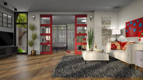 red doors - by Bonnie Chappell