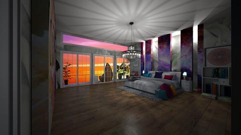 maximalist bedroom - Bedroom - by bluedolphin12
