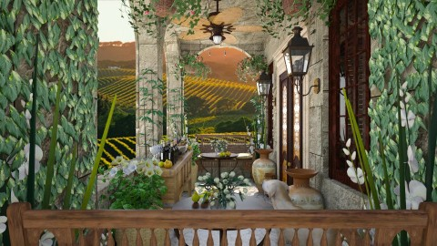 Design 143 Small Balcony Napa Valley - Garden  - by Daisy320