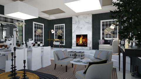 Black - Living room  - by chania