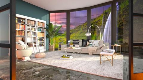 View of the Mountains - Living room  - by Feeny