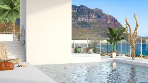 modern white pool - by aestheticXdesigns