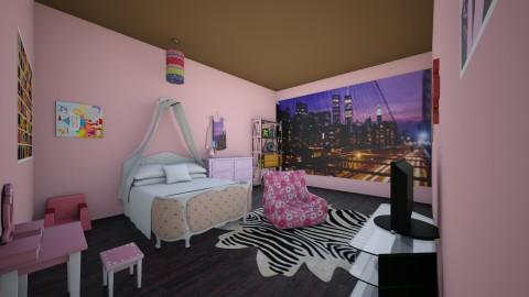Little Girls Bedroom - Kids room - by SydneyCupcake