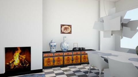 Mix livingroom - Retro - Living room  - by federicaborgini