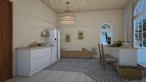 Beige Kitchen - Kitchen  - by Kamri Gen