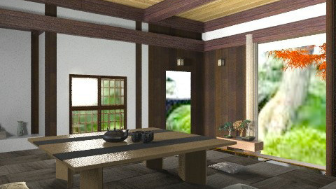 japanese rustic test 10 - Rustic - Living room  - by Kjami