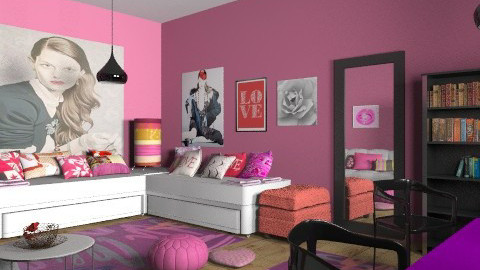 pink twins - Eclectic - Bedroom  - by chania
