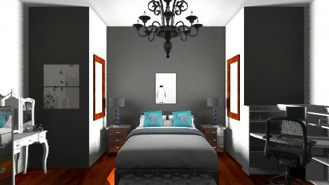 Black and White Bedroom - Modern - Bedroom - by JordanFoxi