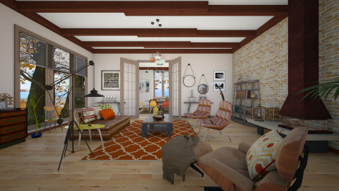 Industrial Insp_Autumn - Modern - Living room  - by janip