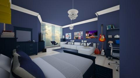 Teen Boy Room - Masculine - Kids room  - by camilla_saurus