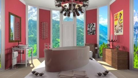 Red_Bathroom - Modern - Bathroom  - by anjuska9