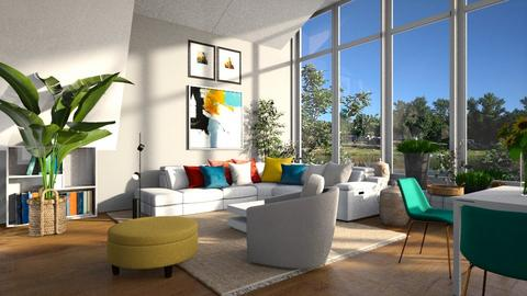 Living at the dam2 - Living room  - by ZuzanaDesign