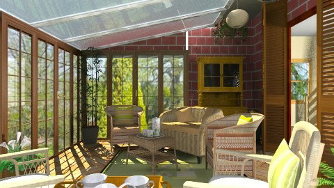 Comfy Veranda - Rustic - Garden  - by Bibiche