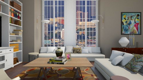 Eclectic LR - Eclectic - Living room  - by PomBom