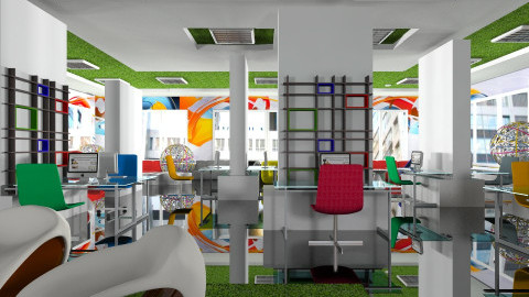 Google office - Modern - Office  - by liling