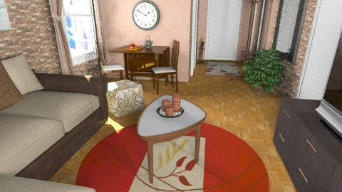 flat 9 - Rustic - Living room  - by sally89