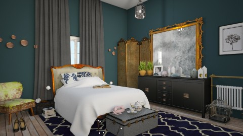 blue opulance - Vintage - Bedroom  - by Ripley86
