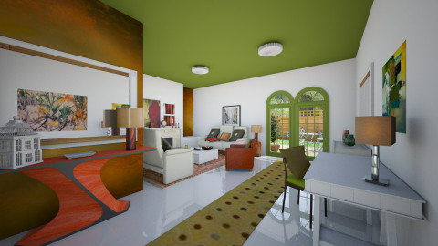 Some rust and moss green - Eclectic - Living room  - by mrschicken