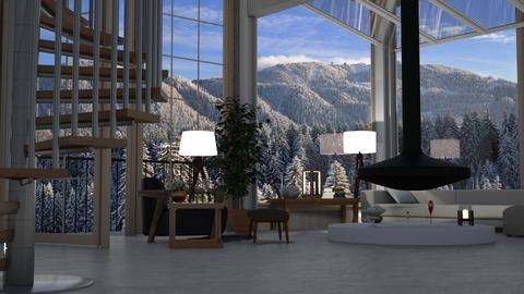 Aspen Chalet Template - Country - Living room  - by Sue Bonstra