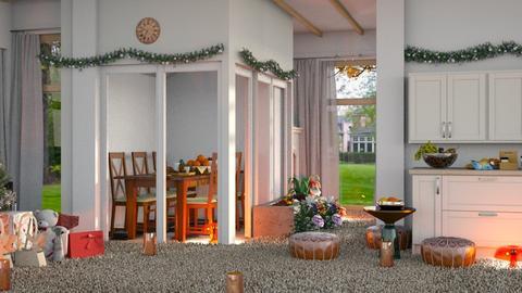 Beautiful Christmas room - Kitchen  - by malithu damsath
