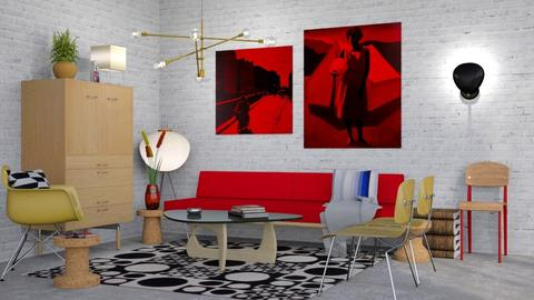 red - Vintage - Living room - by HenkRetro1960