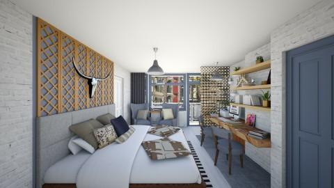 Scandinavian Redesign Bed - Modern - Bedroom  - by deleted_1486240105_VermontianRain