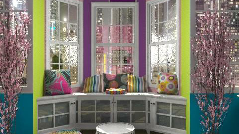 neon colored teens room - Glamour - Bedroom  - by Lizette Najera