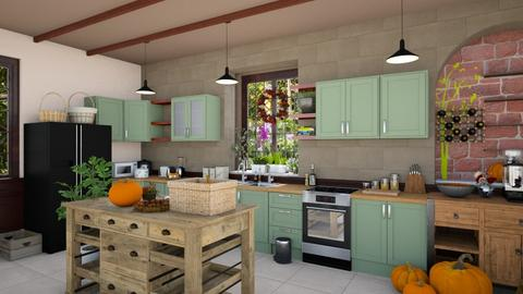 Rustic Kitchen - Rustic - Kitchen  - by M i n h  T a m