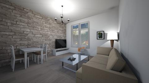 L - Minimal - Living room  - by Twerka