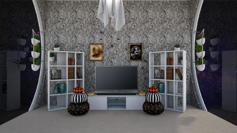 chic halloween movie  - Living room  - by noadesign