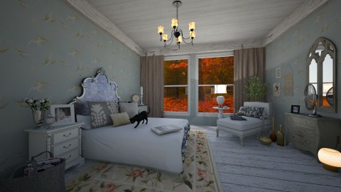 Autumn Cottage Bedroom - Rustic - Bedroom - by PippyLStocking