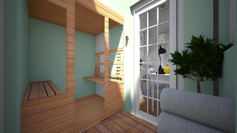 new home steam room - Country - Office - by Stephanie Felix