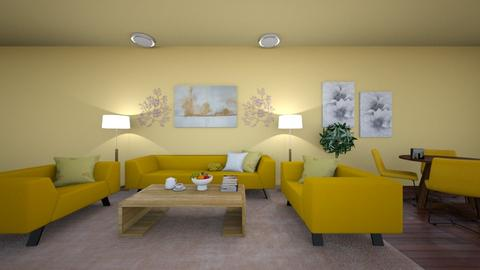 Beehive - Minimal - Living room  - by Angelic_Cuteness136