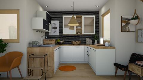 kitchen nook - Modern - Kitchen  - by moommusr