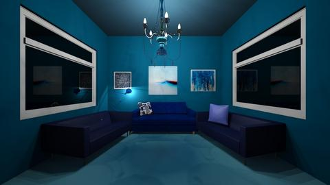 Blue - Living room  - by Elliott Ray