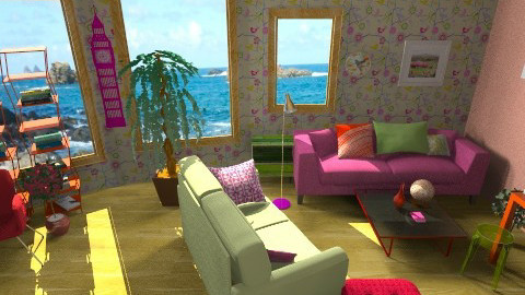 fun colours - Living room - by sannyfhezerston