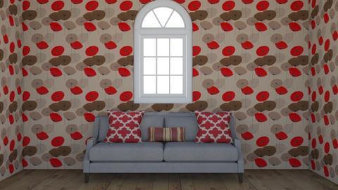 Red Living Room - Living room  - by DerpyMoggins