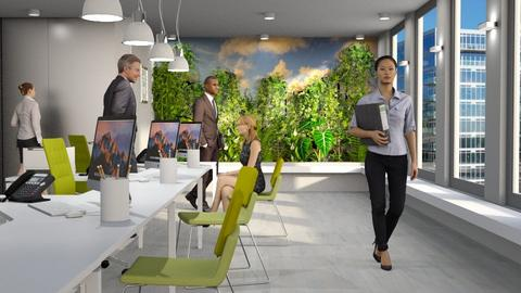 Living Wall Office - Office  - by GraceKathryn