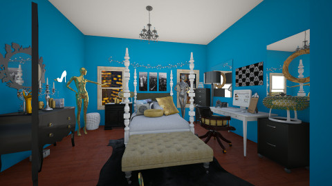 NYC Fashion Haven - Glamour - Bedroom - by CreativeCE