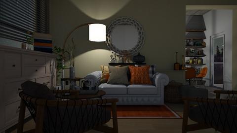 Orange Livingroom - Living room - by MagiC_FetuS