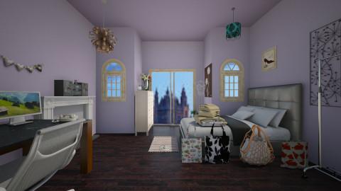 teen girl room - Bedroom - by stauroula