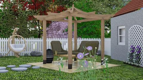 Garden Patio - Garden  - by chocolatedonut71