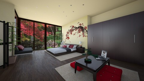 Japanese bedroom - Bedroom  - by Melody06